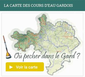 la carte des cours d'eau Gardois
