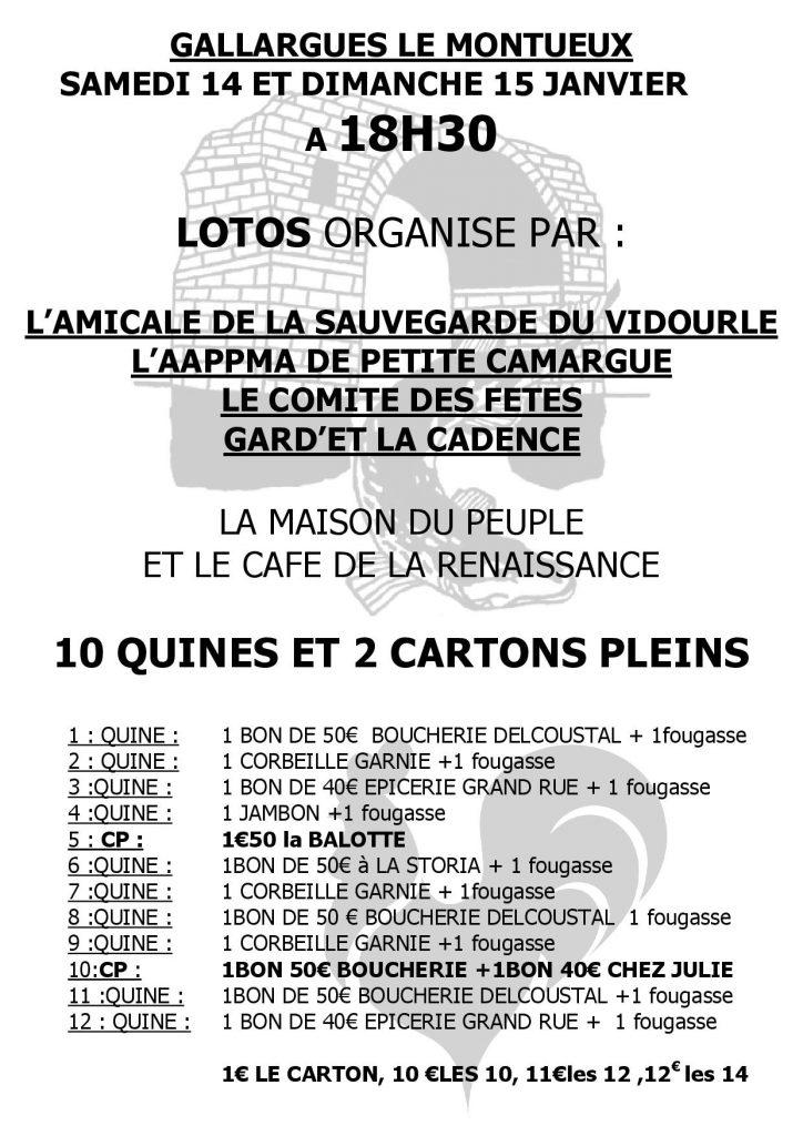 Affiche Lotos AAPPMA Gallargues Le Montueux
