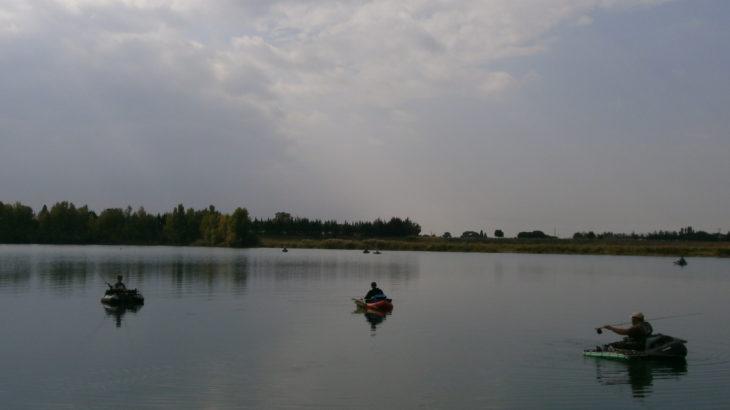 Pêche dans le Gard au float-tube sur les étangs de Vergèze