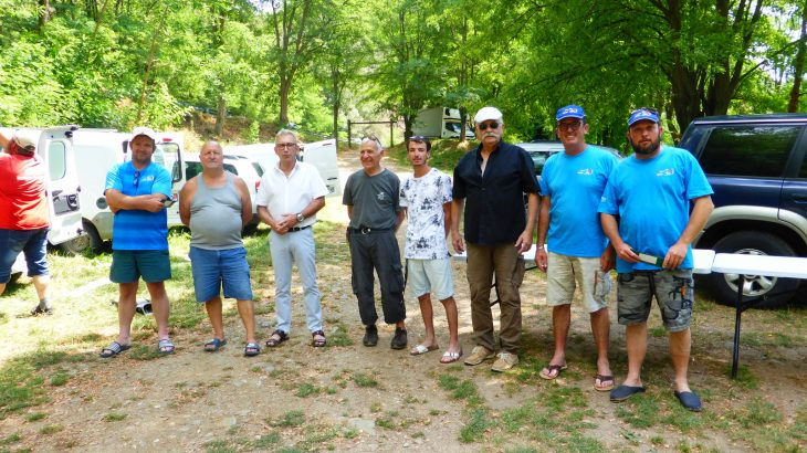 concours float tube sur le lac des Camboux