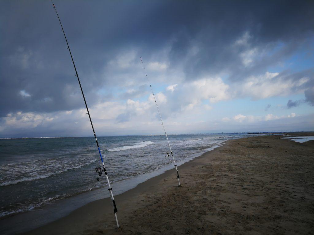 Pêche en surfcasting sur les plages du Gard